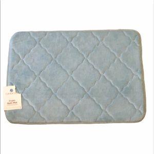 New comfort bay light blue foam bath mats